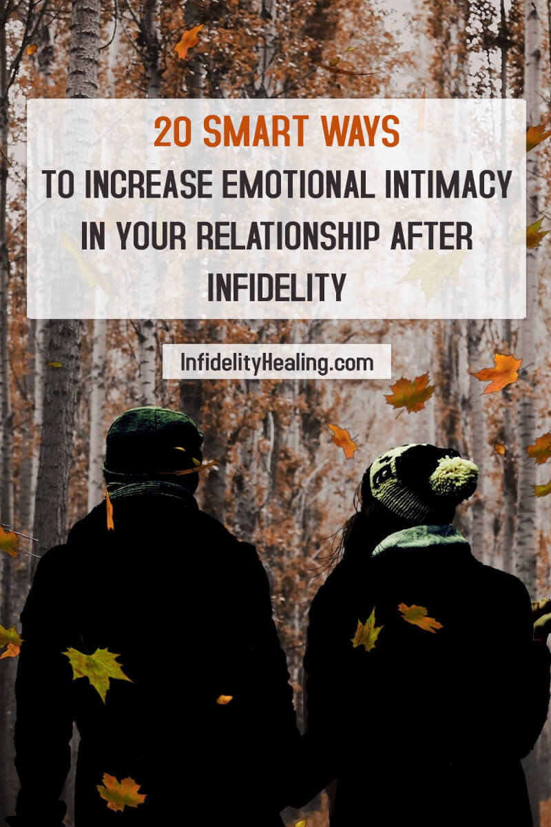 If you really feel like you can save the relationship, here are 20 ways to restore emotional intimacy after infidelity.