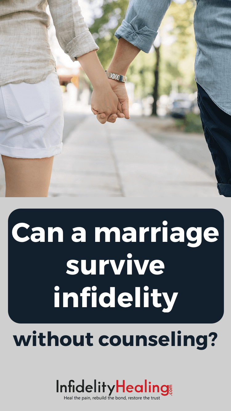 Counseling is not the only source of help after an affair. See what you can do to reconcile and heal together so that your marriage can survive infidelity and you can move on, without counseling.
