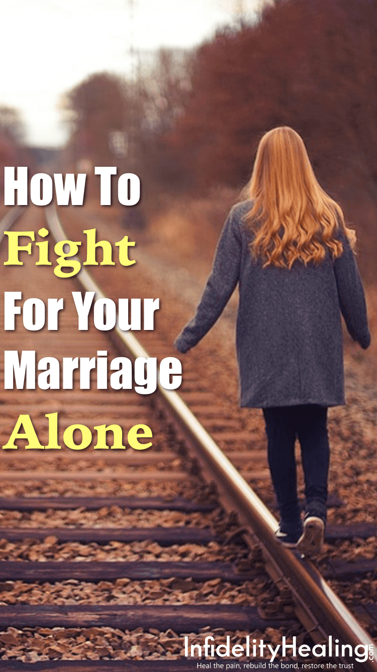 Frustrated, heartbroken, and alone but still feel like your marriage is worth saving after infidelity? Discover 4 steps to saving your marriage alone even after your partner has disconnected.